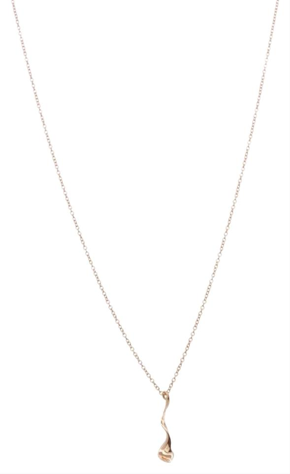 Tiffany co gold 18k yellow frank gehry orchid drop pendant 18k yellow gold frank gehry orchid drop pendant aloadofball Images