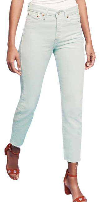 Item - Light Mint Levi's Wedgie Icon High-rise Capri/Cropped Jeans Size 27 (4, S)