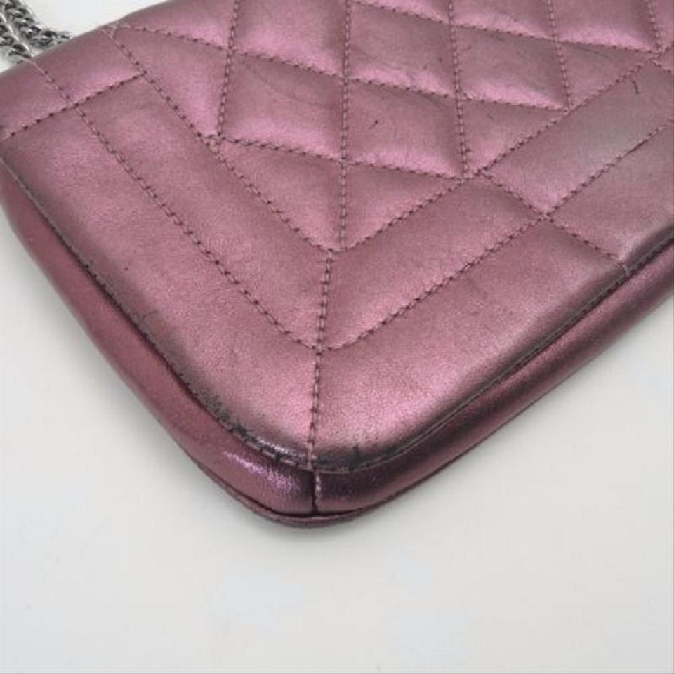 59aefd09ec31c2 Chanel Wallet on Chain Boy Chain Wallet Quilted Metallic Purple Leather  Shoulder Bag
