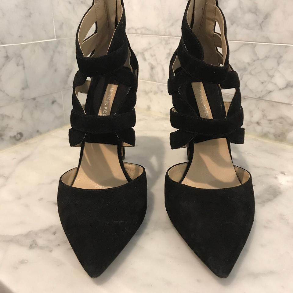 e431d096a2 Michael Kors Black Covered Tow Caged Heel Formal Shoes Size EU 37 ...