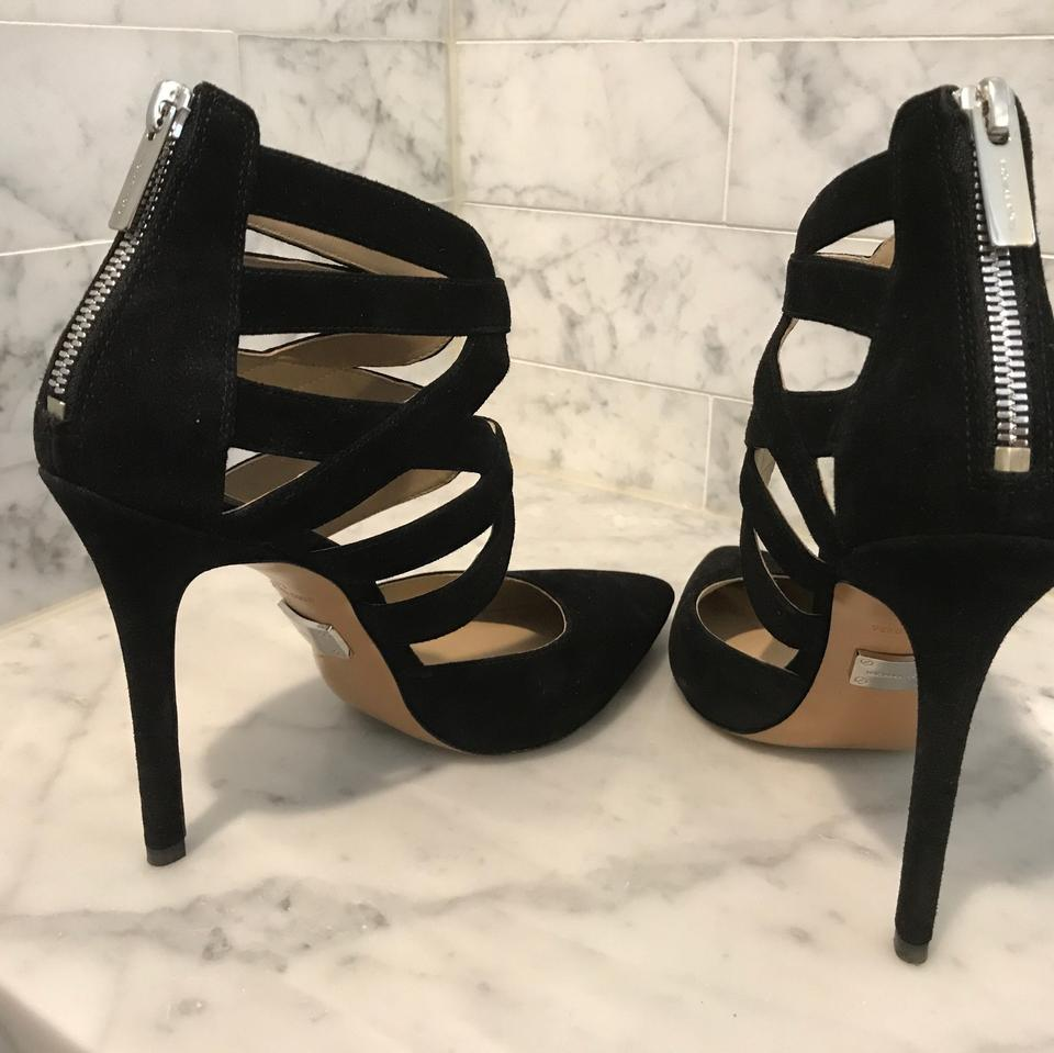 604ce0e586 Michael Kors Black Covered Tow Caged Heel Formal Shoes Size EU 37 (Approx.  US 7) Regular (M, B) - Tradesy