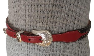 Justin Justin Iconic Red & Black Western Belt Style C20307