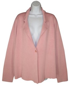Eileen Fisher Silk Knit Cardigan Pink Jacket