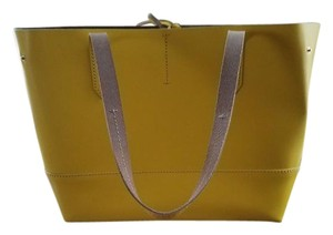 J.Crew New With Tag Leather Sold Out Tote in Crisp Yellow
