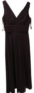 Bill Levkoff Plum Chiffon 82955 Formal Bridesmaid/Mob Dress Size 6 (S)