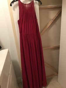 Bill Levkoff Cranberry Chiffon 82955 Formal Bridesmaid/Mob Dress Size 6 (S)