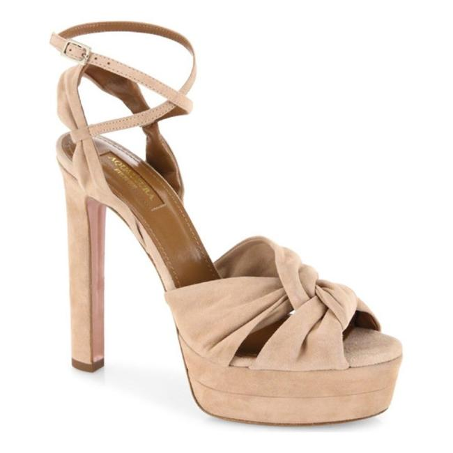 Lulu*s Nude Ana Floral Ankle Strap Heels Sandals Pumps