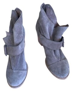 JOE'S Suede Chunky Leather Buckle grey Boots