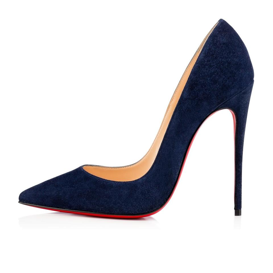 new arrival 49dd5 0f03c Christian Louboutin Blue So Kate 120 Navy Night Suede Classic Heel Pumps  Size EU 36 (Approx. US 6) Regular (M, B)