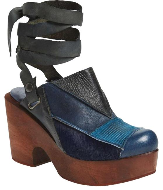 Item - Blue Into The Patchwork Mules/Slides Size EU 36 (Approx. US 6) Regular (M, B)