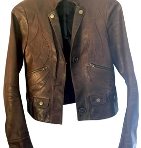 Chlo Brown Leather Jacket