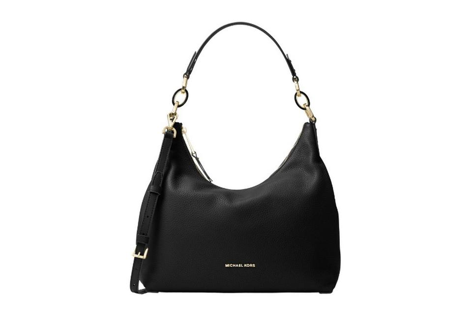 9c415b281526 Michael Kors Isabella Black Leather Shoulder Bag - Tradesy