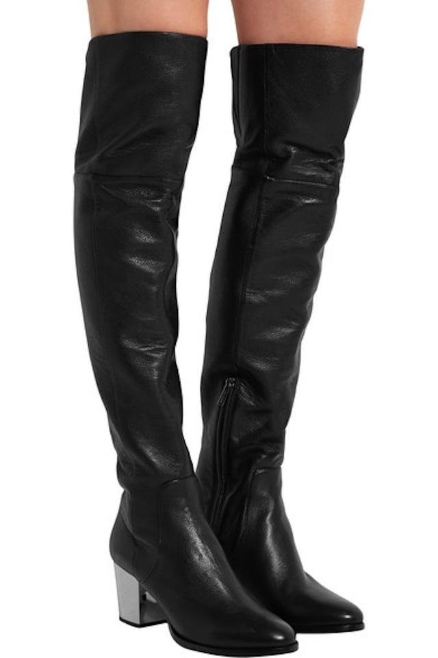 a65cb93e12b Jimmy Choo Mercer Stiletto Knee High black Boots Image 11. 123456789101112
