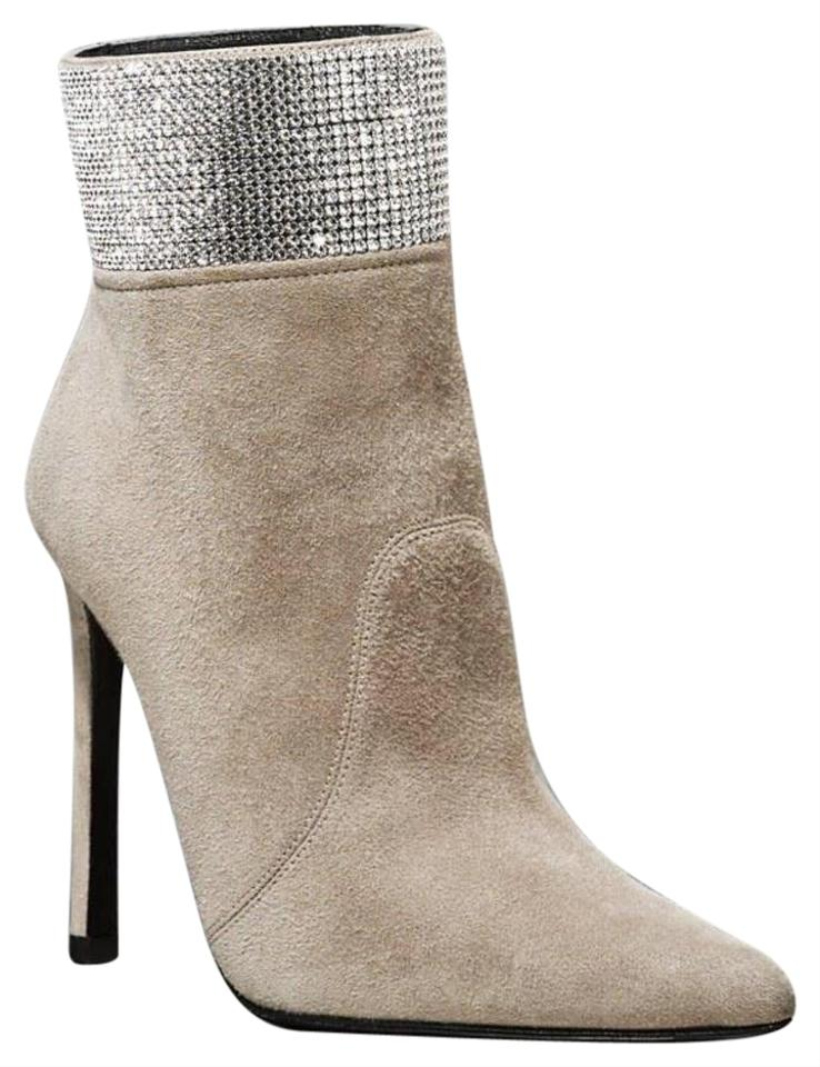 c4680a13f85 Stuart Weitzman Fossil Highbeams Swarovski Crystal Cuff Suede Ankle  Boots Booties