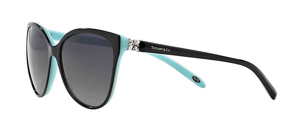 5395a60d809ee Tiffany   Co. Black Blue Tf 4089 8055t3 Polarized Cat Eye -free Shipping  Sunglasses - Tradesy