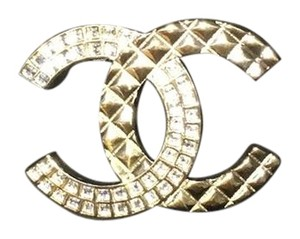 Chanel Chanel Gold Tone Brooch
