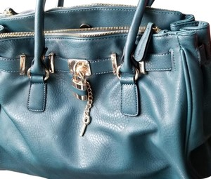 ALDO Purse Style Gold Tote in Teal