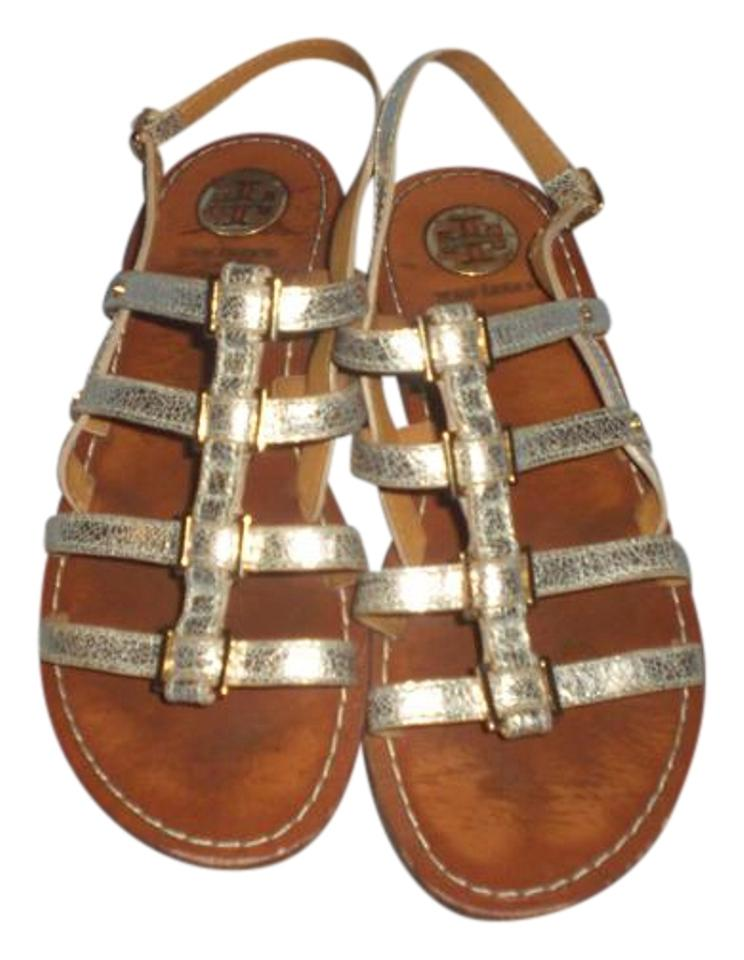 e68f30c0a2b9 Tory Burch Gold Reggie Gladiator Sandals M Flats Size US 8.5 Regular ...