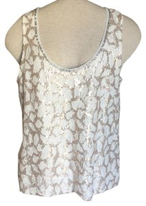 3ecf7c222a Anthropologie Sanctuary Gold Sequin Cardigan Champagne Sweater - Tradesy