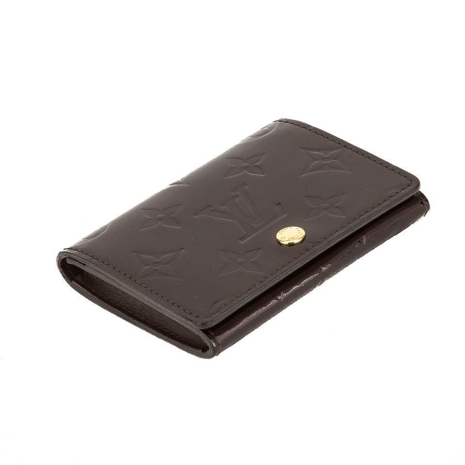 Louis Vuitton Amarante Monogram Vernis Leather Business Card Holder ...