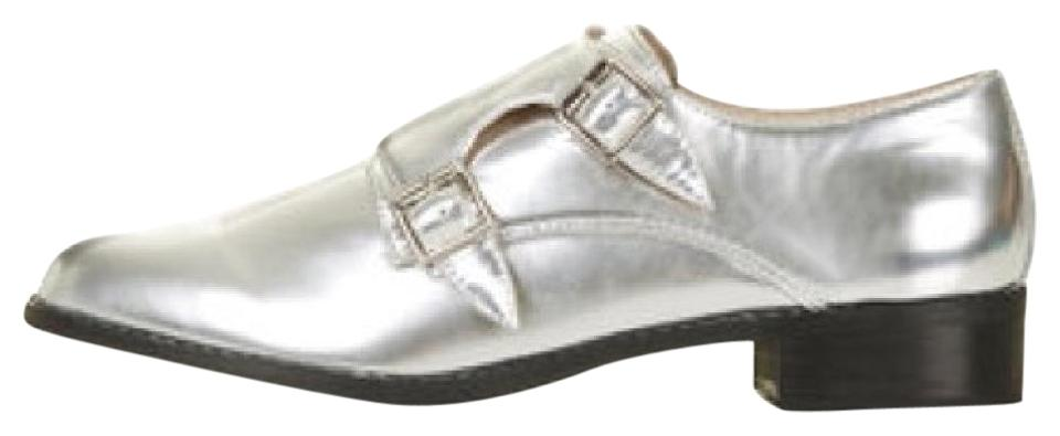 Silver Mirror with Black Soles - Mirror Silver Oxfords Boots/Booties 3169d5