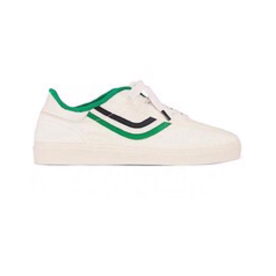 51716adc7a51 Tory Burch White New Chevron Terry Sneakers Trainers Tennis Sneakers. Size   US 8.5 ...