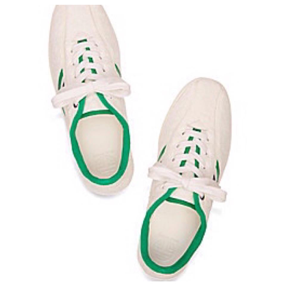 49f3394b1e46 Tory Burch White New Chevron Terry Sneakers Trainers Tennis Sneakers Size  US 8.5 Regular (M