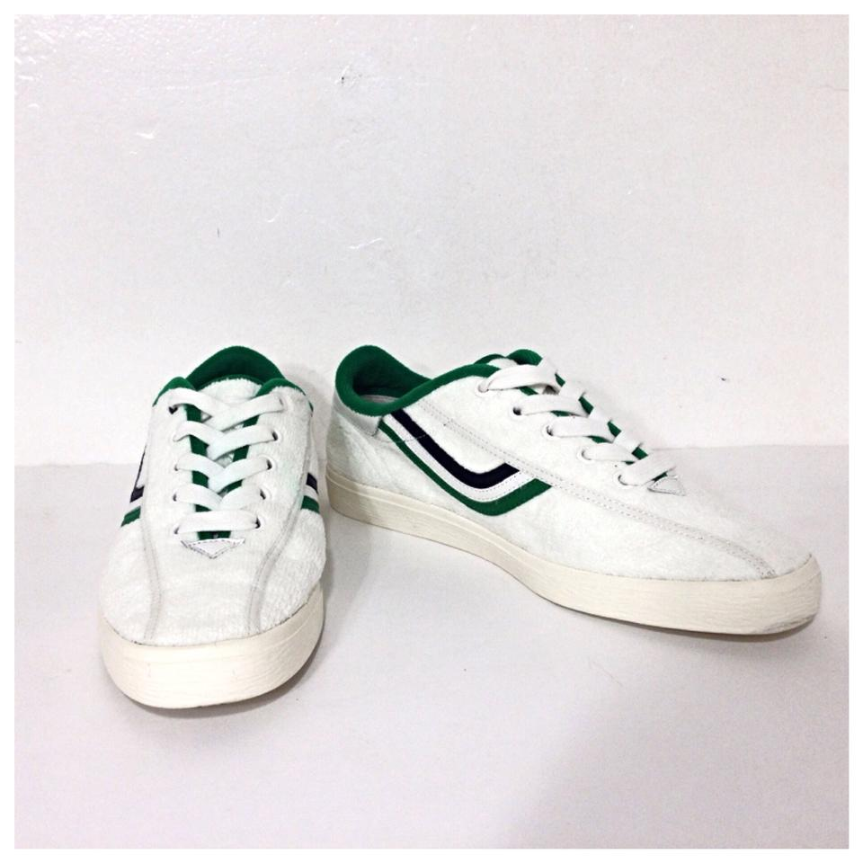 40180929c2da Tory Burch White New Chevron Terry Sneakers Trainers Tennis Sneakers Size  US 8.5 Regular (M