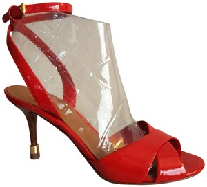 Tory Burch Patent Leather Red Sandals
