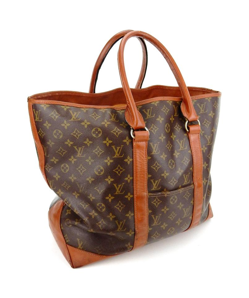 louis vuitton neverfull vintage weekender gm brown monogram canvas leather shoulder bag tradesy. Black Bedroom Furniture Sets. Home Design Ideas