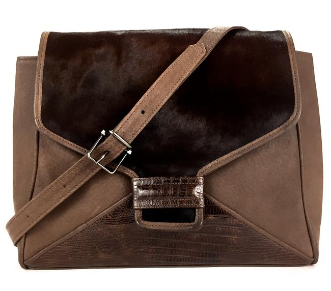 Item - Made In Italy Vintage and Hair Shoulder Pale Brown Horse Leather Cross Body Bag