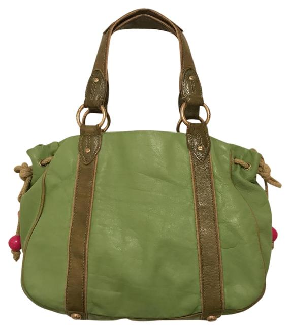 Marc Jacobs Distressed Vintage Green Leather Tote Marc Jacobs Distressed Vintage Green Leather Tote Image 1