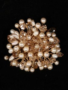 Toni Federici Ivory And Gold Brooch Pin
