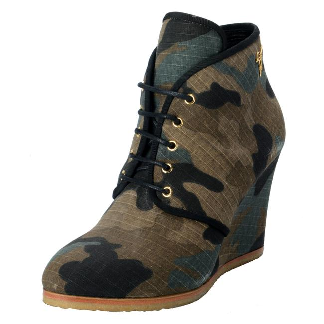 Item - Multi-color Homme Women's Distressed Print Wedges Boots/Booties Size US 7 Regular (M, B)