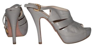 Prada Strappy Platform Gray Sandals