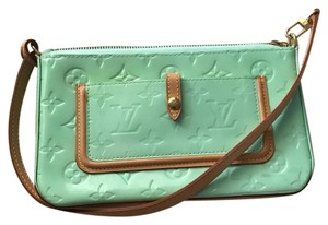Louis Vuitton Vintage Summer Fall Patent Leather Green Clutch