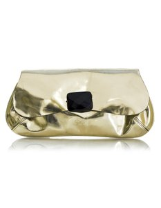 Anya Hindmarch Glazed Leather Evening gold Clutch