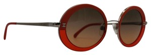 Chanel Round Vintage Orange Silver Sunglasses 4182 c.434/4G