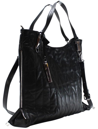 Vince Camuto Black Leather Riley Quilted Tote From Polina