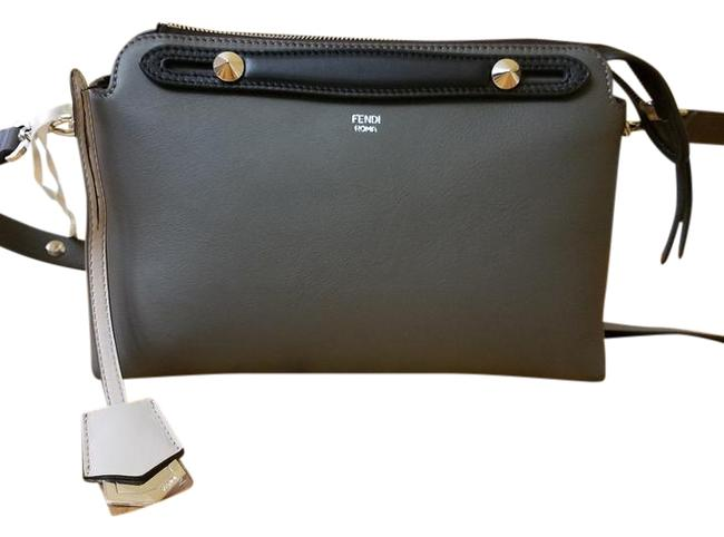 Item - Boston By The Way Regular Multicolored Grey and Pink Leather Shoulder Bag