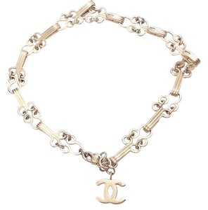 Chanel Chanel Gold Plated Hook and Eye CC Choker / Bracelet