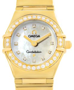 Omega Omega Constellation My Choice Mini Gold Diamond Ladies Watch 1164.75.0