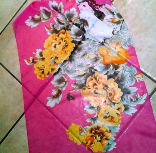 Other New Summer Scarf Floral Flowers Pink Yellow P1322