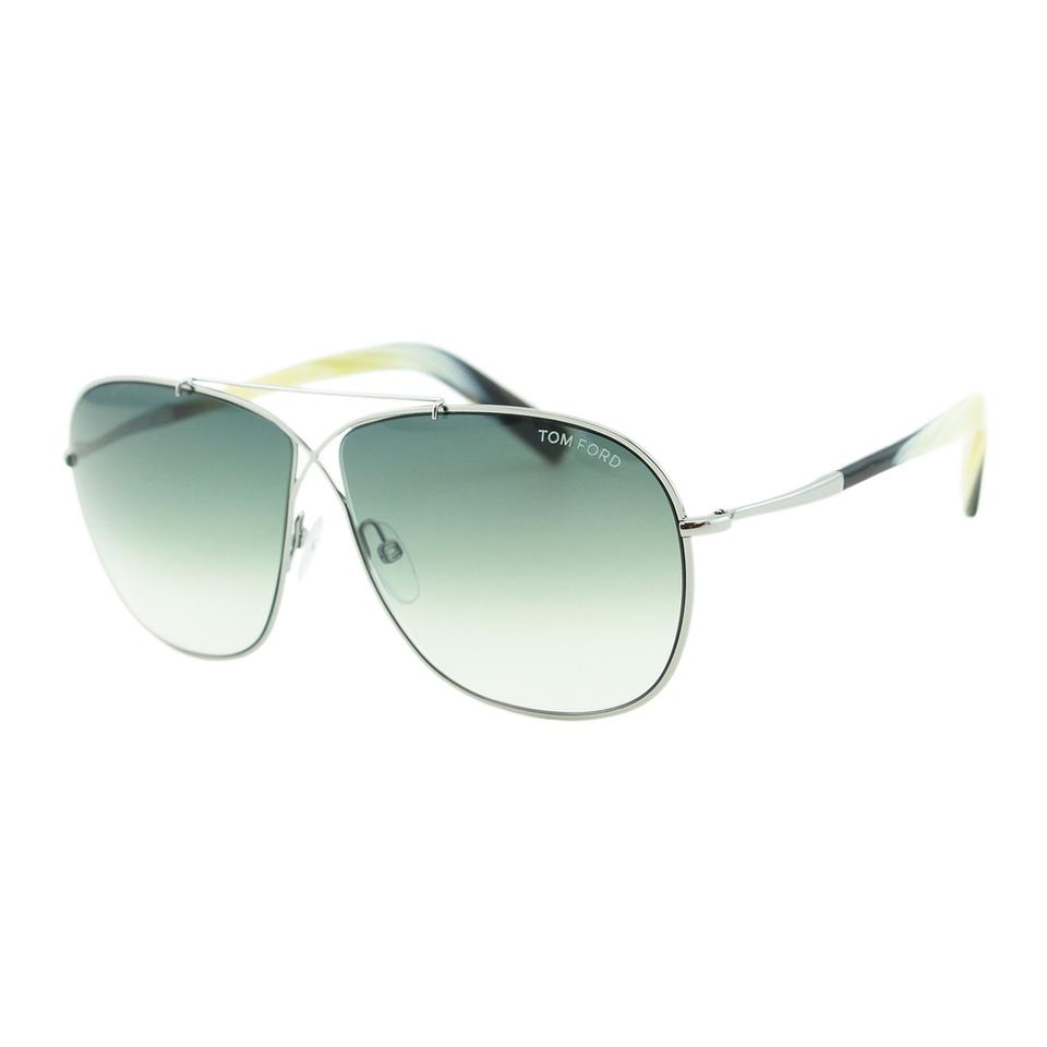 6a616de387f Tom Ford New April FT0393 15B Metal Cross Front Squared Aviator Sunglasses  61mm Image 0 ...