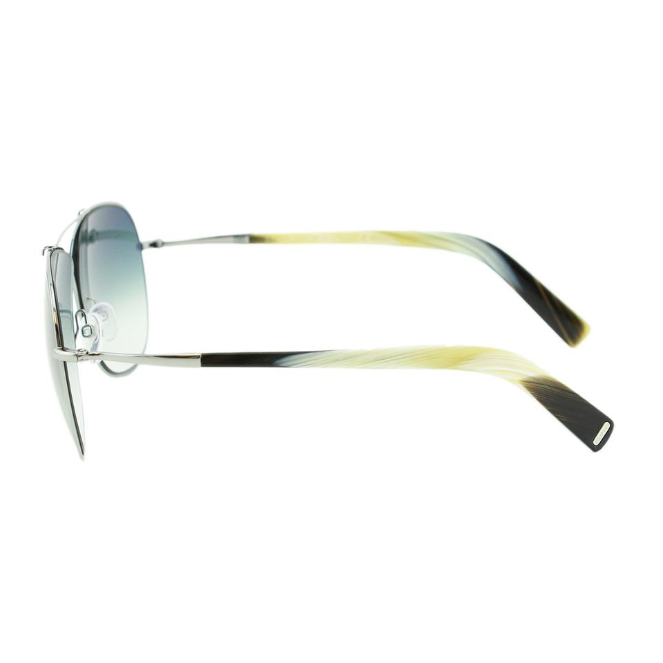 dc8eeca1612 Tom Ford New April FT0393 15B Metal Cross Front Squared Aviator Sunglasses  61mm Image 7. 12345678