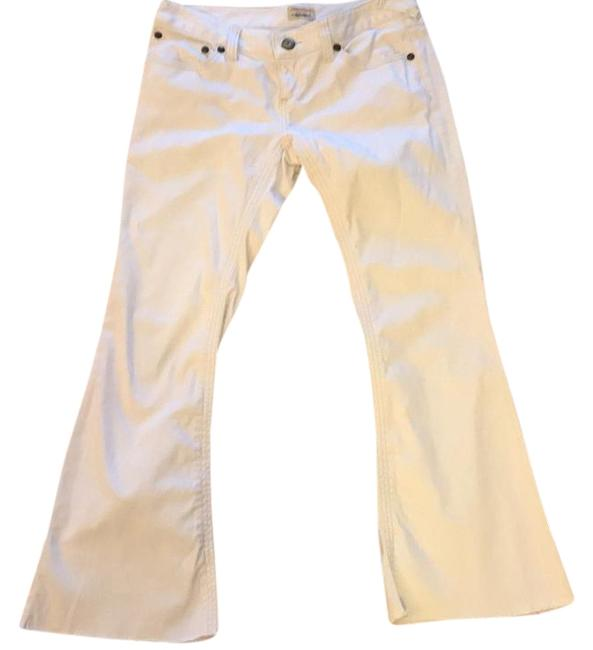 Item - White Distressed Low Tide Flare Leg Jeans Size 29 (6, M)