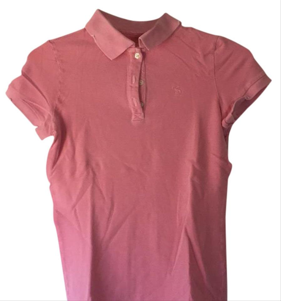 Abercrombie Fitch Polo T Shirt Pink