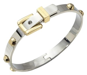 Michael Kors 50% OFF! BRAND NEW Astor SILVER AND GOLD Buckle Bangle