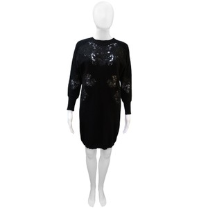 Stella McCartney short dress Black Tunic Wool Lace on Tradesy