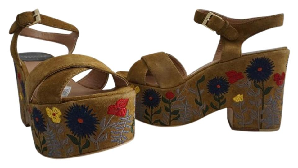 Laurence Dacade Brown Camel Brown Dacade Helissa Embroidered Sandal Platforms 9bf278